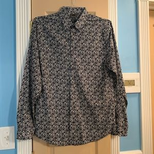 H&M Slim Fit Patterned Button Down Shirt